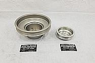 Aluminum Engine Pulleys BEFORE Chrome-Like Metal Polishing and Buffing Services - Aluminum Polishing