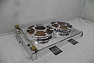 Aluminum Radiator Parts AFTER Chrome-Like Metal Polishing and Buffing Services - Aluminum Polishing Services