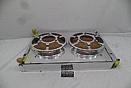 Aluminum Radiator Parts BEFORE Chrome-Like Metal Polishing and Buffing Services - Aluminum Polishing Services