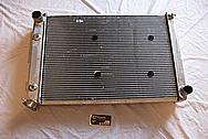 1967 Chevy Camaro V8 Aluminum Radiator BEFORE Chrome-Like Metal Polishing and Buffing Services