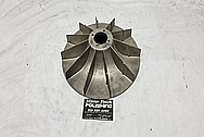 1969 Chevrolet Corvair Magnesium Radiator Cooling Fan BEFORE Chrome-Like Metal Polishing and Buffing Services / Restoration Services - Magnesium Polishing