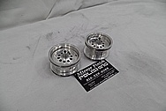 RC Radio Controlled Custom Aluminum Truck Wheels BEFORE Chrome-Like Metal Polishing and Buffing Services / Restoration Services - Aluminum Polishing