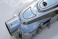 Aluminum Scooter Piece AFTER Chrome-Like Metal Polishing and Buffing Services