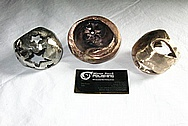 Bronze Metal Sculptures BEFORE Chrome-Like Metal Polishing and Buffing Services / Restoration Services