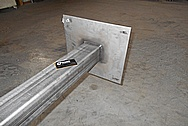 Aluminum Pole/Pipe Sheet Metal BEFORE Chrome-Like Metal Polishing and Buffing Services / Restoration Services