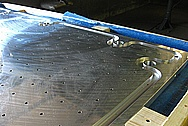 "Large 1"" Thick Aluminum Metal Plates BEFORE Chrome-Like Metal Polishing and Buffing Services / Restoration Services"