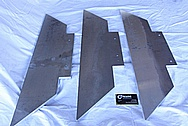 Aluminum Sheet Metal Pieces BEFORE Chrome-Like Metal Polishing and Buffing Services / Restoration Services