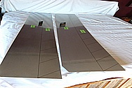 Stainless Steel Sheet Metal Pieces BEFORE Chrome-Like Metal Polishing and Buffing Services / Restoration Services