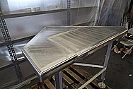 Stainless Steel Pharmaceutical Grade Sheet Metal BEFORE Chrome-Like Metal Polishing and Buffing Services / Restoration Services