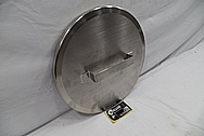 Pharmaceutical Stainless Steel Hopper and Lid Piece BEFORE Chrome-Like Metal Polishing and Buffing Services / Restoration Services