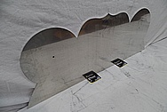 Aluminum Sheet Metal / Sign Pieces BEFORE Chrome-Like Metal Polishing and Buffing Services / Restoration Services