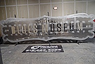 Blues National Museum Aluminum Sheet Metal Sign BEFORE Chrome-Like Metal Polishing and Buffing Services / Restoration Services