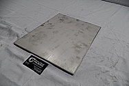 Stainless Steel Plate BEFORE Chrome-Like Metal Polishing and Buffing Services / Restoration Services
