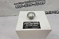 Aluminum 6 Speed Shifter Knob BEFORE Chrome-Like Metal Polishing and Buffing Services - Shifter Polishing Services