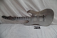 Custom Stainless Steel Guitar Piece BEFORE Chrome-Like Metal Polishing and Buffing Services - Stainless Steel Polishing