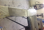 Stainless Steel Porsche Targa Top Bar BEFORE Chrome-Like Metal Polishing and Buffing Services / Restoration Services