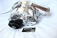 Ford Lincoln Aluminum Supercharger AFTER Chrome-Like Metal Polishing and Buffing Services