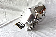 Aluminum Tractor Supercharger / Blower AFTER Chrome-Like Metal Polishing and Buffing Services / Restoration Services