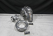 ATI Procharger F2 Series Aluminum Supercharger Inlet Piece AFTER Chrome-Like Metal Polishing and Buffing Services / Restoration Services