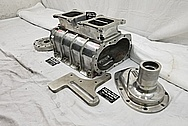 671 Size Aluminum Supercharger / Blower BEFORE Chrome-Like Metal Polishing and Buffing Services - Aluminum Polishing Services - Supercharger Polishing