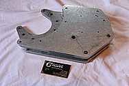 Ford Mustang Aluminum Supercharger / Blower Brackets and Spacers BEFORE Chrome-Like Metal Polishing and Buffing Services