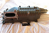 2003 Ford Mustang Cobra Aluminum Supercharger / Blower Housing, Plenum, Bracket and Throttle Body BEFORE Chrome-Like Metal Polishing and Buffing Services