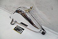 Aluminum Motorcycle Gas Tank AFTER Chrome-Like Metal Polishing and Buffing Services / Restoration Services