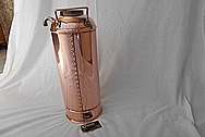Vintage Copper Fire Extinguisher Tank AFTER Chrome-Like Metal Polishing and Buffing Services - Copper Polishing Services