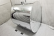Semi-Truck Aluminum Fuel Tank AFTER Chrome-Like Metal Polishing and Buffing Services - Aluminum Polishing