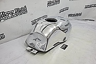 Motorcycle Aluminum Gas Tank AFTER Chrome-Like Metal Polishing and Buffing Services - Aluminum Polishing