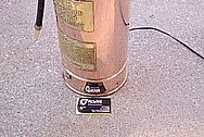 Custom Fire Extinguisher Tank / Lamp AFTER Chrome-Like Metal Polishing and Buffing Services