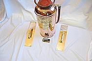 Old Brass Fire Extinguisher Tank AFTER Chrome-Like Metal Polishing and Buffing Services Plus Metal Clear Coating Services