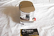 Aluminum Power Steering Reservoir Tank AFTER Chrome-Like Metal Polishing and Buffing Services
