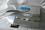 Aluminum Reservoir Tank BEFORE Chrome-Like Metal Polishing and Buffing Services / Restoration Service