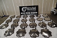Stainless Steel Railroad / Tank Car Compartment Lids / Covers BEFORE Chrome-Like Metal Polishing and Buffing Services / Restoration Services