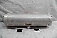 Dune Buggy Aluminum Gas Tank BEFORE Chrome-Like Metal Polishing and Buffing Services / Restoration Services