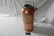 Vintage Copper Fire Extinguisher Tank BEFORE Chrome-Like Metal Polishing and Buffing Services - Copper Polishing Services