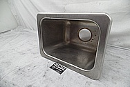 Stainless Steel Boat Kitchen Sink / Tank BEFORE Chrome-Like Metal Polishing and Buffing Services - Stainless Steel Polishing Services