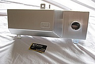 Ford Mustang V8 Aluminum PFAB Tank BEFORE Chrome-Like Metal Polishing and Buffing Services Plus Painting Services