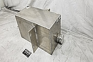 Aluminum Fuel Cell / Gas Tank BEFORE Chrome-Like Metal Polishing and Buffing Services - Aluminum Polishing - Tank Polishing