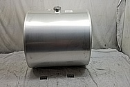 Semi-Truck Aluminum Fuel Tank BEFORE Chrome-Like Metal Polishing and Buffing Services - Aluminum Polishing