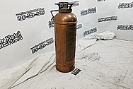 LaFrance Fire Equipment Corporation Copper Fire Extinguisher Tank BEFORE Chrome-Like Metal Polishing and Buffing Services - Copper Polishing