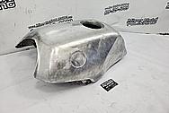 Motorcycle Aluminum Gas Tank BEFORE Chrome-Like Metal Polishing and Buffing Services - Aluminum Polishing
