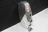 Aluminum Motorcycle Gas Tank BEFORE Chrome-Like Metal Polishing and Buffing Services / Restoration Service
