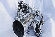 Toyota Supra 2JZ-GTE Aluminum Throttle Body AFTER Chrome-Like Metal Polishing and Buffing Services and Custom Traction Control Delete Services (Welding, Cutting, Grinding)