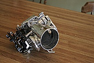 Toyota Supra 2JZ-GTE Aluminum Throttle Body AFTER Chrome-Like Metal Polishing and Buffing Services