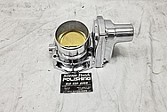 1957 Chevrolet Corvette Rochester Fuel Injection System Aluminum Throttle Body AFTER Chrome-Like Metal Polishing - Aluminum Polishing Services