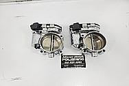 Aluminum Twin Throttle Bodies AFTER Chrome-Like Metal Polishing - Aluminum Polishing - Throttle Body Polishing