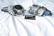 BMW V12 Aluminum Dual Throttle Bodies AFTER Chrome-Like Metal Polishing and Buffing Services