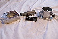 Ford Mustang V8 Aluminum Throttle Body BEFORE Chrome-Like Metal Polishing and Buffing Services